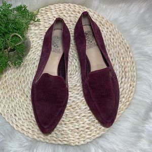 Vince camuto plum perforated pointed toe flats